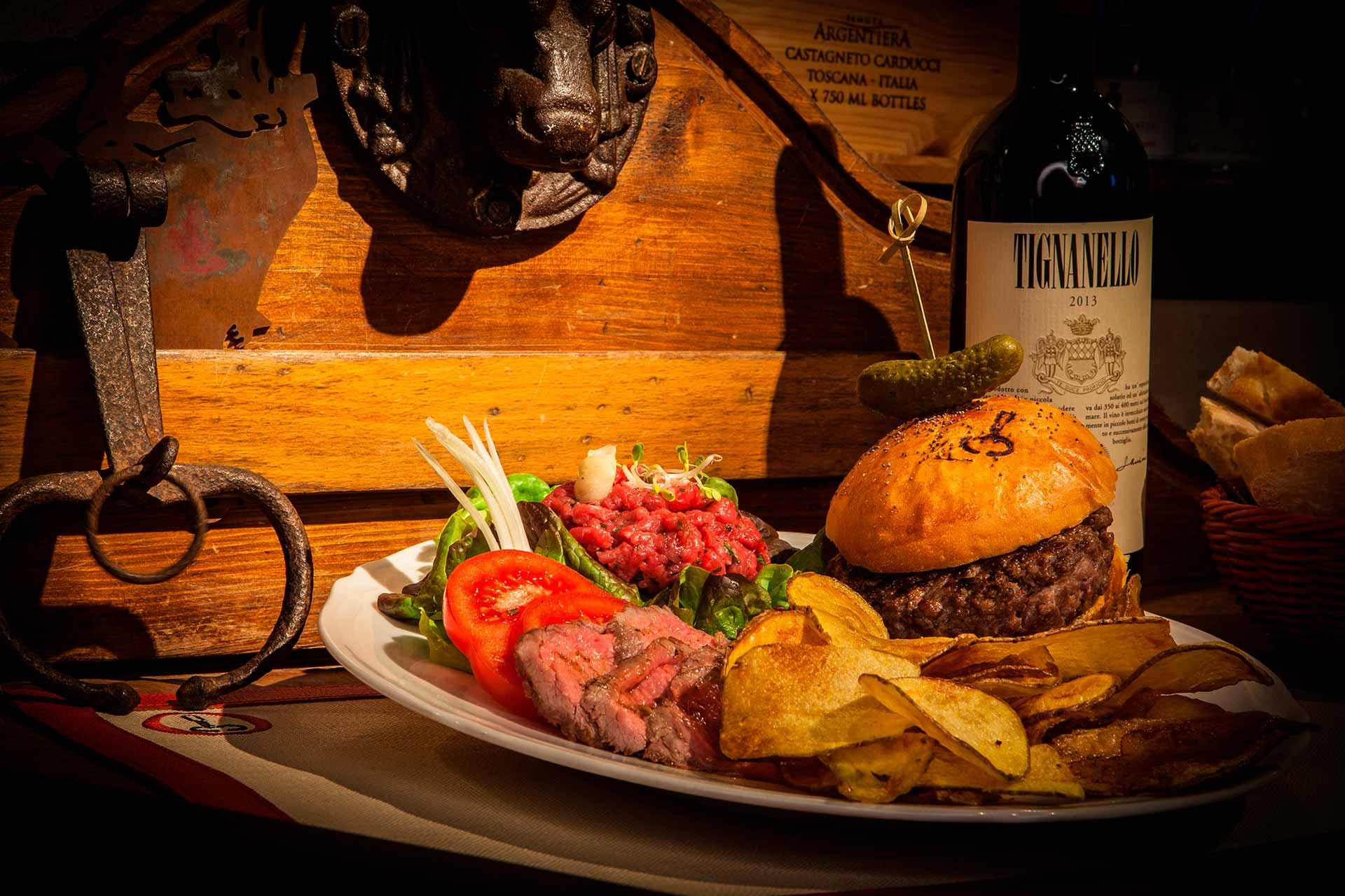 hamburger di chinina ristorante la toraia
